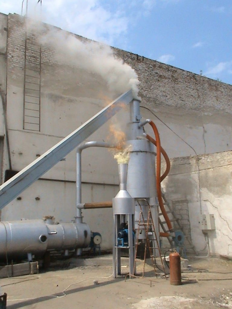 Network of energy centers for recycling biomass and other harmful waste