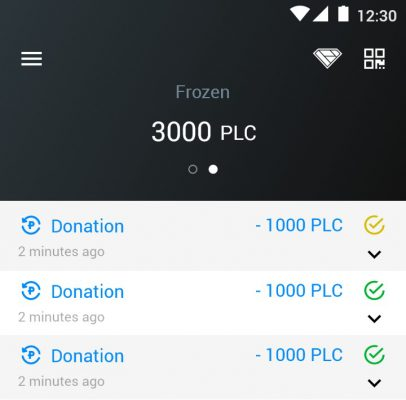 How it works — creating a wallet, buying PLC, making donations
